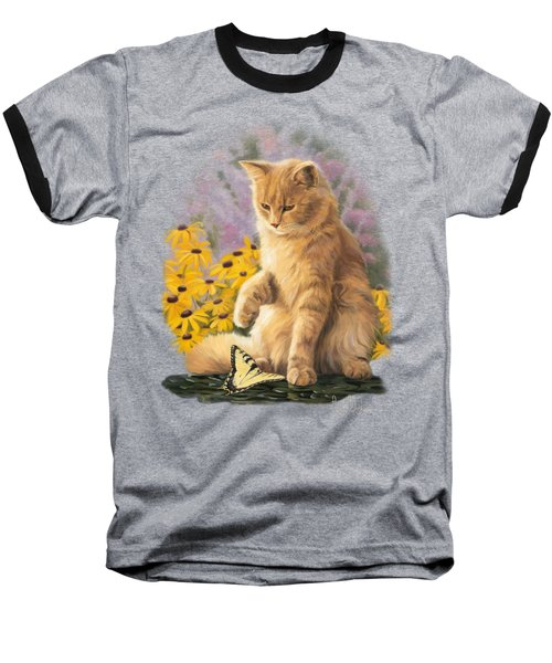 Archibald And Friend Baseball T-Shirt by Lucie Bilodeau