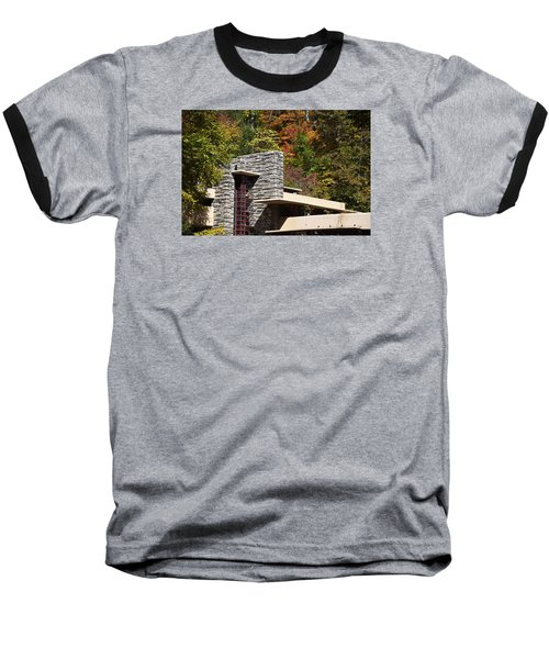 Architectural Detail Of Fallingwater -  Frank Lloyd Wright Baseball T-Shirt
