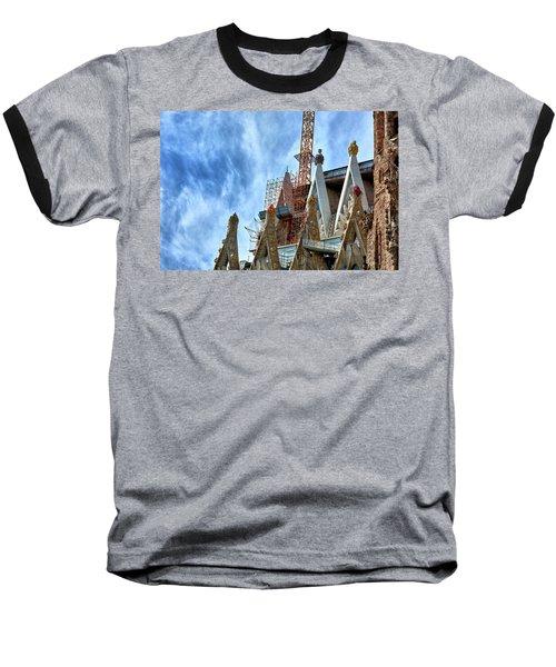 Architectural Details Of The Sagrada Familia Baseball T-Shirt