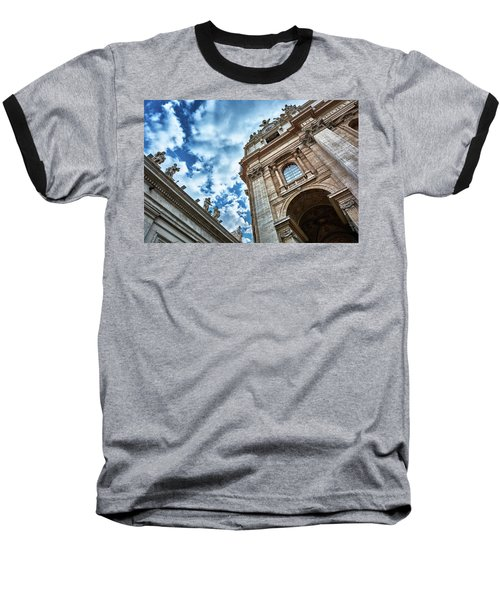 Architectural Majesty On Top Of The Sky Baseball T-Shirt