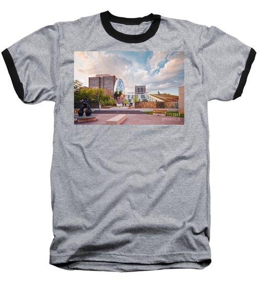 Architectural Photograph Of Anish Kapoor Cloud Column At The Glassell School Of Art - Mfa Houston  Baseball T-Shirt