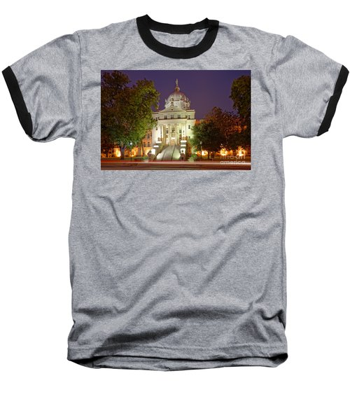 Architectural Photograph Of Mclennan County Courthouse At Dawn - Downtown Waco Central Texas Baseball T-Shirt