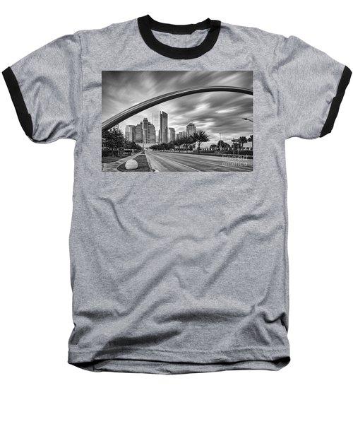 Architectural Photograph Of Post Oak Boulevard At Uptown Houston - Texas Baseball T-Shirt