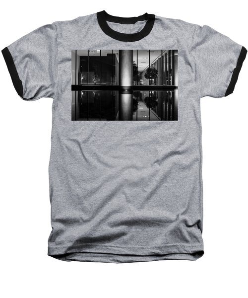 Architectural Reflecting Pool Baseball T-Shirt