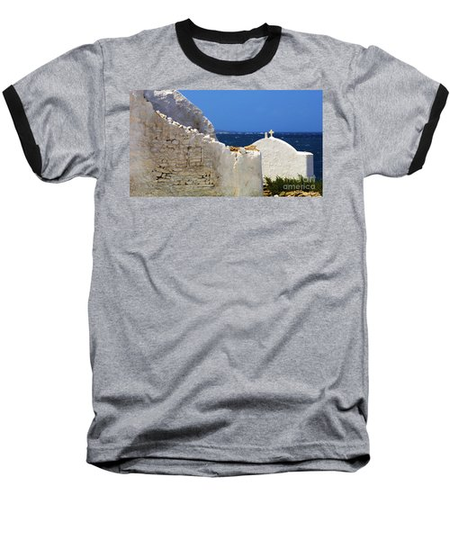 Baseball T-Shirt featuring the photograph Architecture Mykonos Greece 2 by Bob Christopher