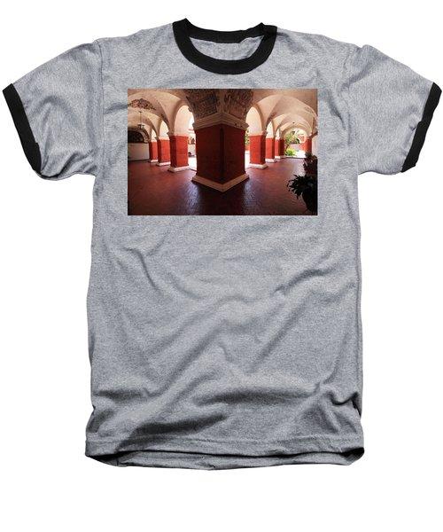 Archway Paintings At Santa Catalina Monastery Baseball T-Shirt by Aidan Moran