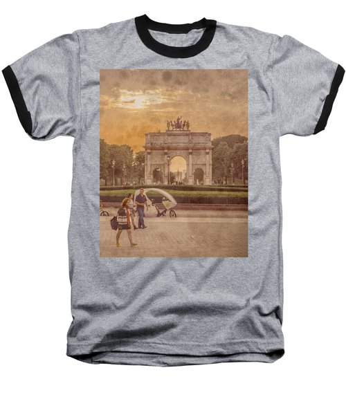Paris, France - Arcs Baseball T-Shirt