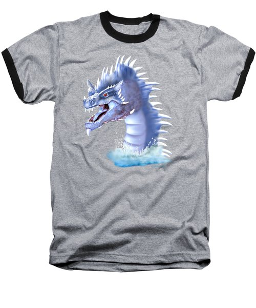 Arctic Ice Dragon Baseball T-Shirt