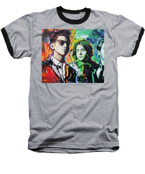 Baseball T-Shirt featuring the painting Arctic Monkeys by Richard Day