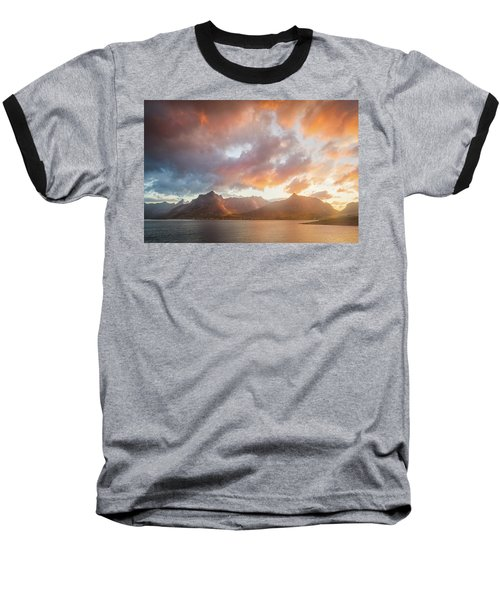 Baseball T-Shirt featuring the photograph Arctic Susnset by Maciej Markiewicz