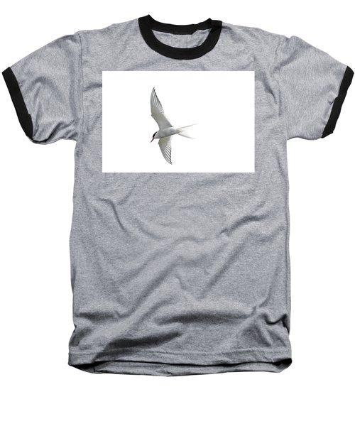 Arctic Tern Flying In Mist Baseball T-Shirt