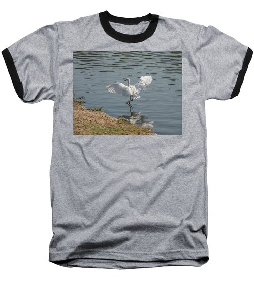 Are You Ready To Dance - Great Egret In Mtn View Ca Baseball T-Shirt