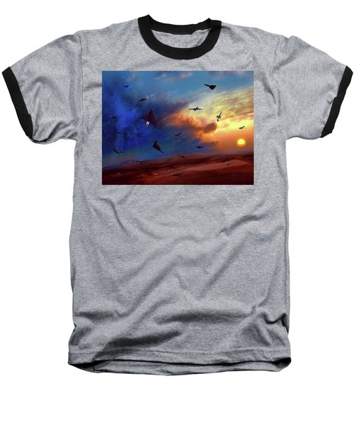 Baseball T-Shirt featuring the painting Area 51 Groom Lake by Dave Luebbert