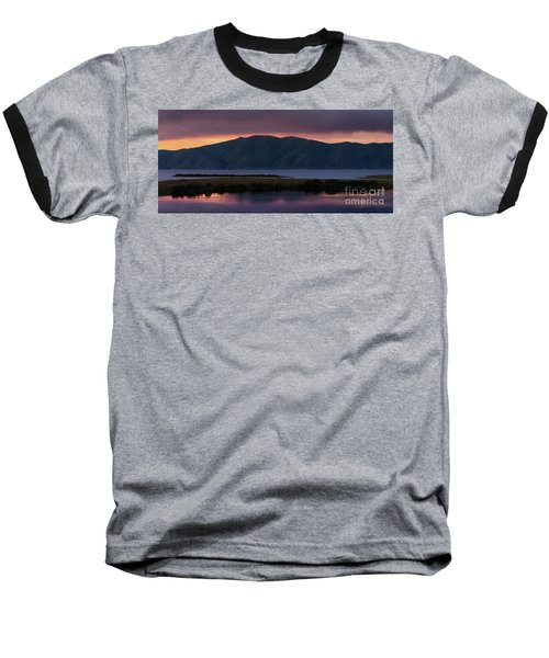 Aregunyats Range And Sevan Lake At Sunset, Armenia Baseball T-Shirt by Gurgen Bakhshetsyan