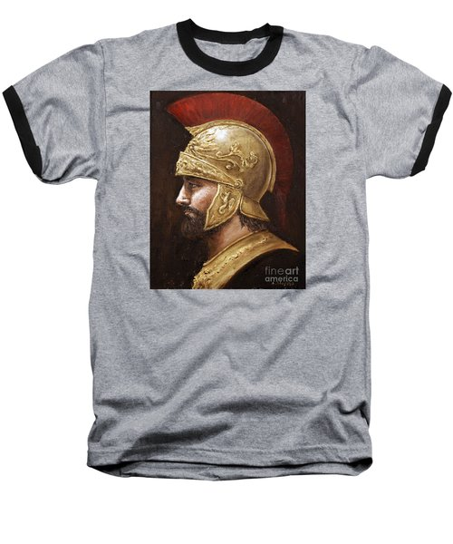 Baseball T-Shirt featuring the painting Ares by Arturas Slapsys