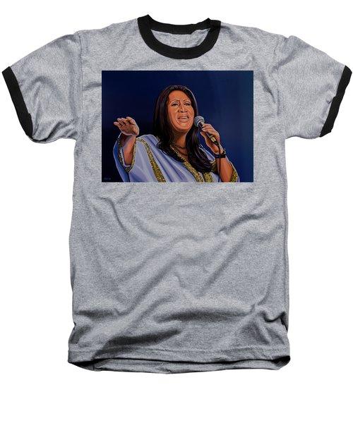 Aretha Franklin Painting Baseball T-Shirt