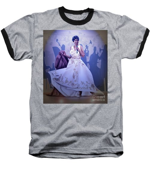 Aretha Franklin Rock Steady Baseball T-Shirt