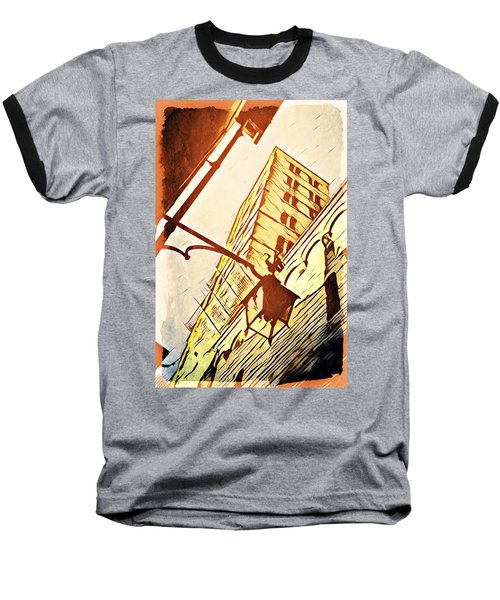 Arezzo's Tower Baseball T-Shirt by Andrea Barbieri