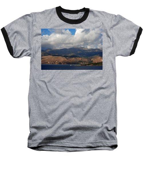 Argostoli Mountains Baseball T-Shirt by Robert Moss