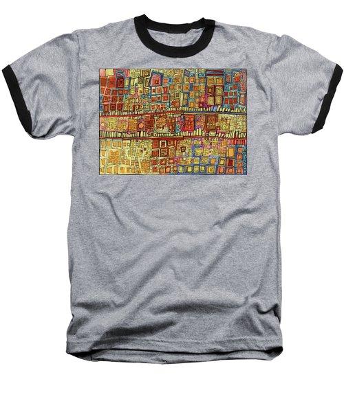 Ariel View Baseball T-Shirt by Sandra Church