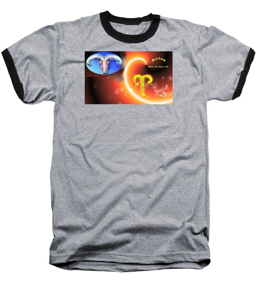 Baseball T-Shirt featuring the painting Aries by The Art of Alice Terrill