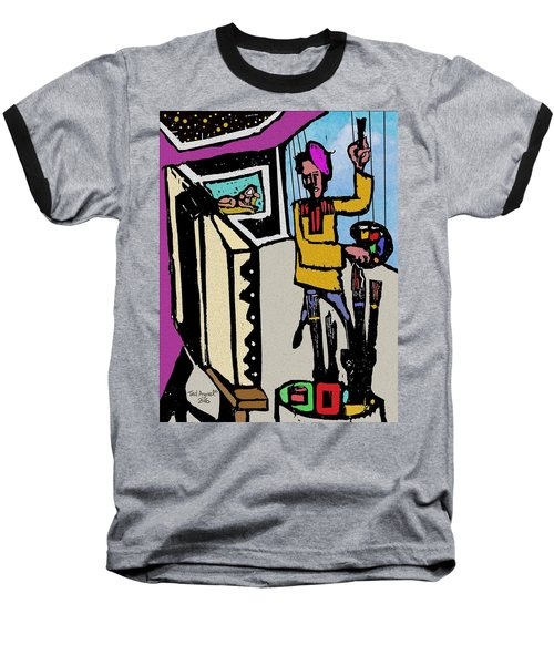 Baseball T-Shirt featuring the digital art Artiste In The Studio by Ted Azriel