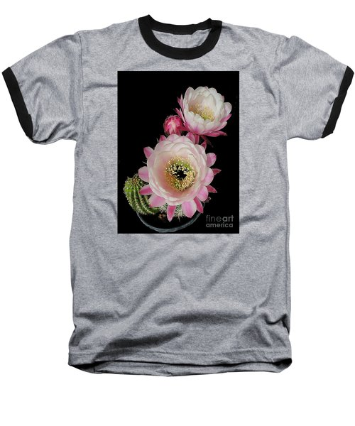 Arizona Desert Cactus Flowers Baseball T-Shirt by Merton Allen