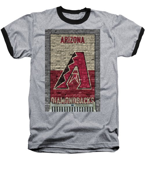 Arizona Diamondbacks Brick Wall Baseball T-Shirt by Joe Hamilton