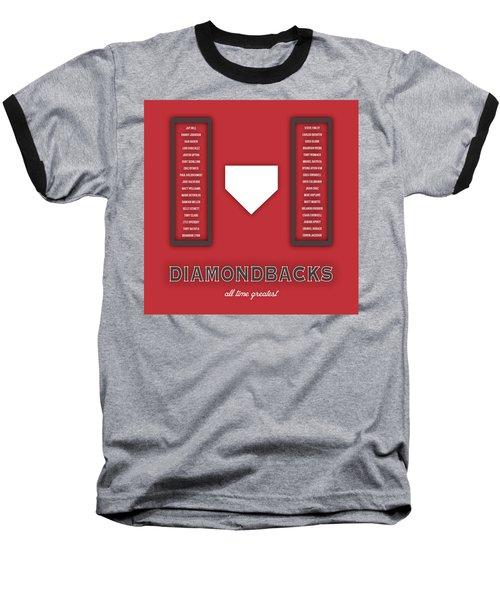 Arizona Diamondbacks Art - Mlb Baseball Wall Print Baseball T-Shirt by Damon Gray