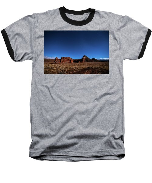 Arizona Landscape At Night Baseball T-Shirt