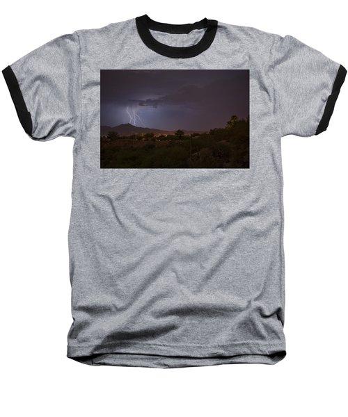 Baseball T-Shirt featuring the photograph Arizona Monsoon Lightning by Dan McManus