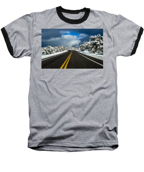 Arizona Snow Road Baseball T-Shirt