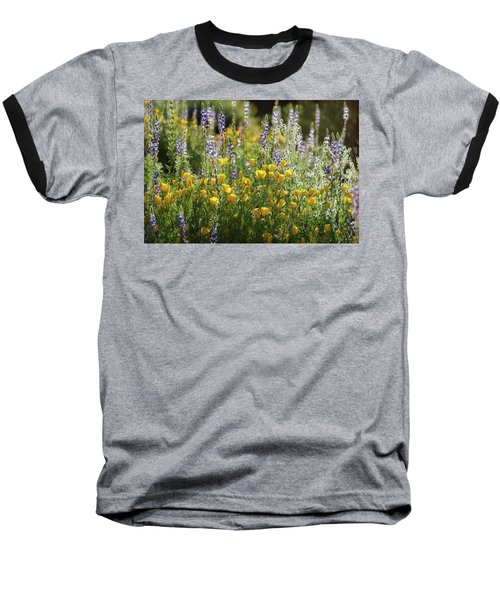 Baseball T-Shirt featuring the photograph Arizona Spring Wildflowers  by Saija Lehtonen