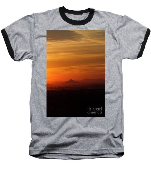Arizona Sunrise Baseball T-Shirt by Anne Rodkin