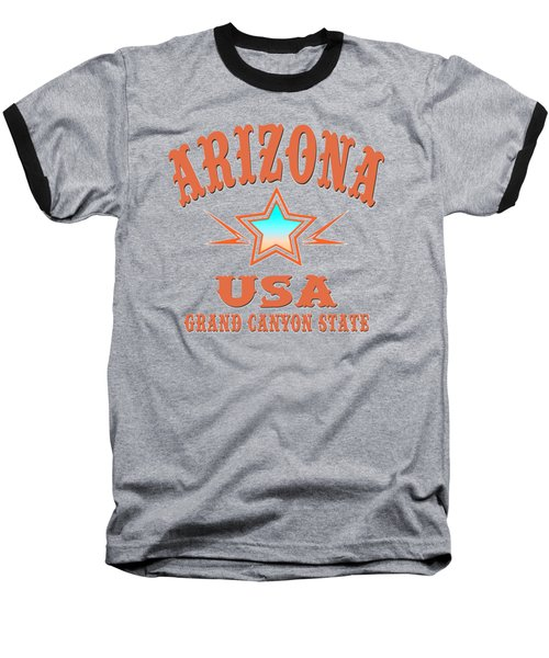 Arizona Grand Canyon State Design Baseball T-Shirt