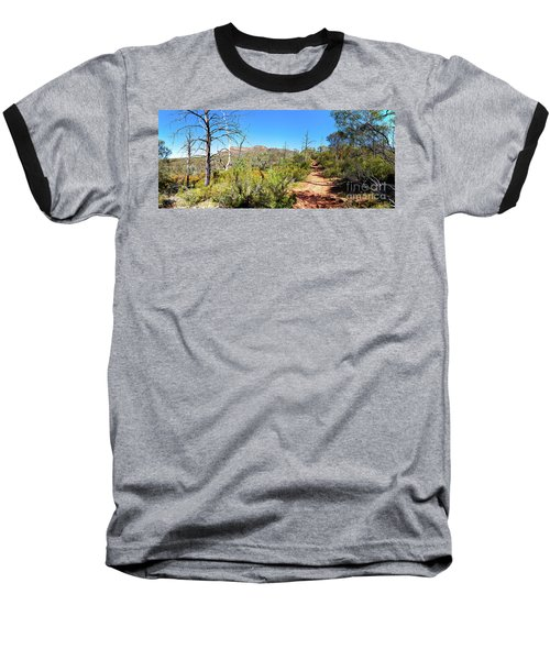 Arkaroo Rock Hiking Trail.wilpena Pound Baseball T-Shirt by Bill Robinson