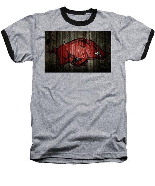 Arkansas Razorbacks 2b Baseball T-Shirt by Brian Reaves
