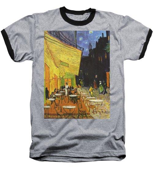 Arles Cafe Terrace At Night Baseball T-Shirt