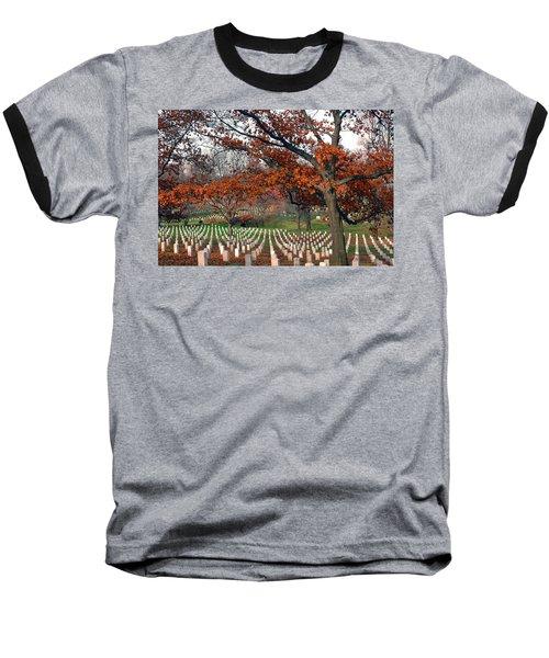 Arlington Cemetery In Fall Baseball T-Shirt by Carolyn Marshall