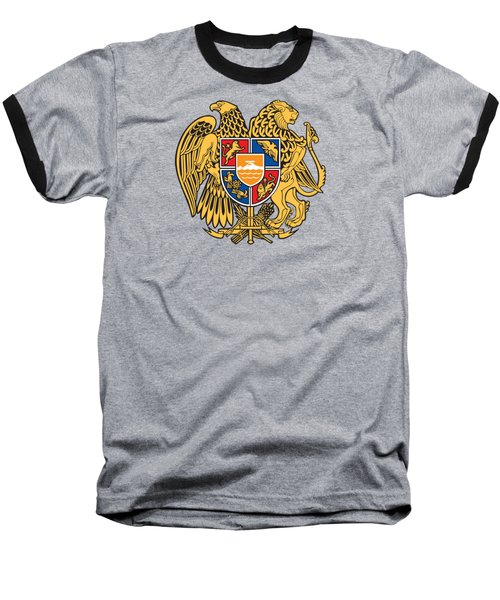 Baseball T-Shirt featuring the drawing Armenia Coat Of Arms by Movie Poster Prints