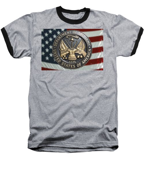 Army Proud Baseball T-Shirt by Myrna Bradshaw