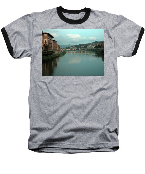 Baseball T-Shirt featuring the photograph Arno River, Florence, Italy by Mark Czerniec