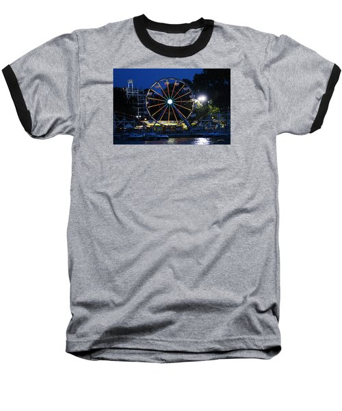 Arnolds Park At Night Baseball T-Shirt