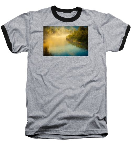 Baseball T-Shirt featuring the photograph Around The Bend by Don Schwartz
