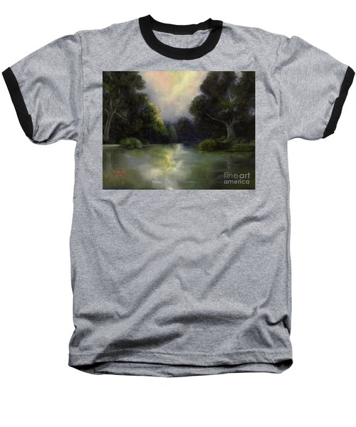 Around The Bend Baseball T-Shirt by Marlene Book