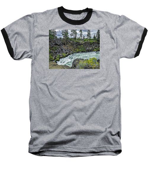 Baseball T-Shirt featuring the photograph Around The Bend by Nancy Marie Ricketts
