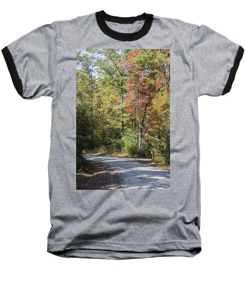 Around The Bend Baseball T-Shirt by Ricky Dean