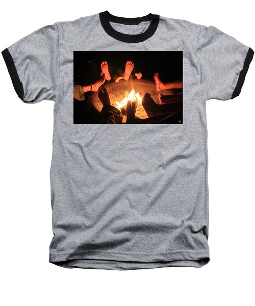 Around The Fireplace Baseball T-Shirt