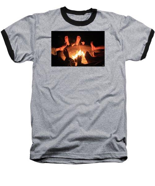 Around The Fireplace Baseball T-Shirt