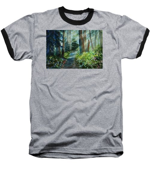 Around The Path Baseball T-Shirt by Kerri Ligatich